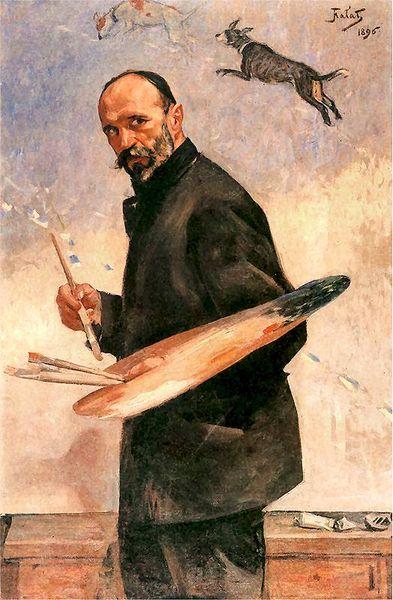 Julian Fałat - autoportret